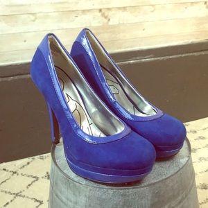 Baby Phat cobalt blue platform heels